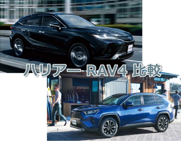 新型RAV4ハリアーの比較